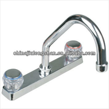 "brass high quality two handles 8"" kitchen faucet,mixer,tap"