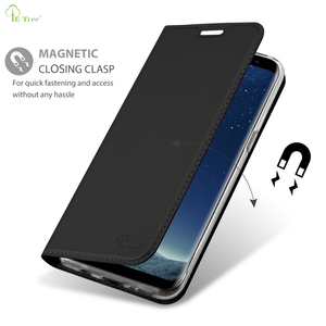 Original Luxury Matte Skin Ultra Thin Flip Leather Card Phone Case For Samsung Galaxy S8