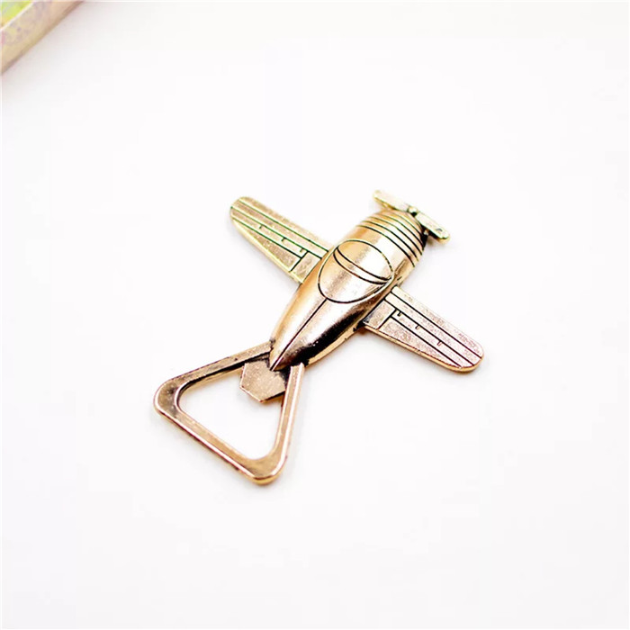 Chinese supplier gifts metal beer airplane shape bottle opener