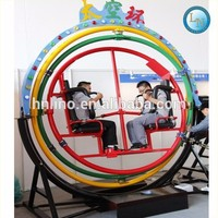 New amusement ride portable exercise equipment 3d space ring human gyroscope