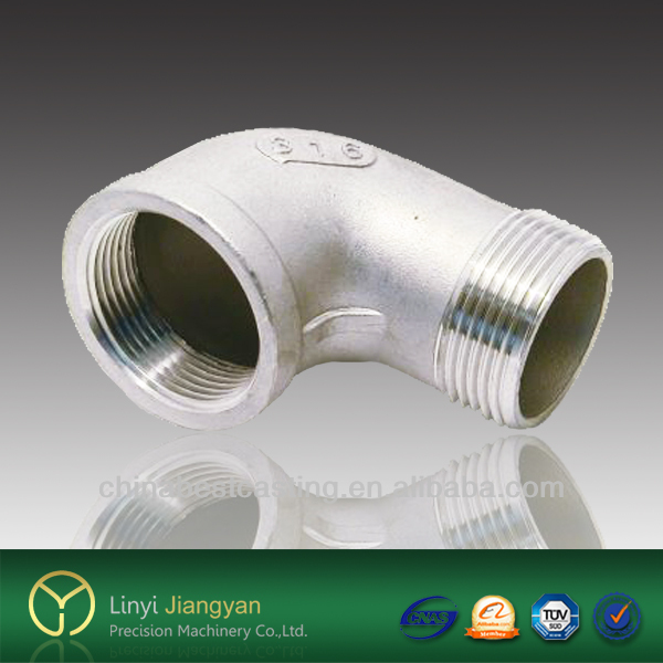 male x female thread 316 stainless steel elbow 1/2-4 pipe fitting