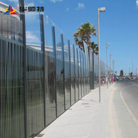 Huashuaite products acrylic sound barrier sound noise wall noise sound barriers