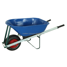Heavy duty metal tray blue color wheelbarrow,Concrete wheel barrow
