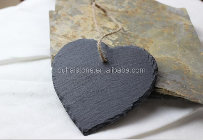 Creative gift hearts shape latest slate outdoor sign board