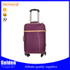 Strong Car wheels PU leather traveling luggage trolley bag
