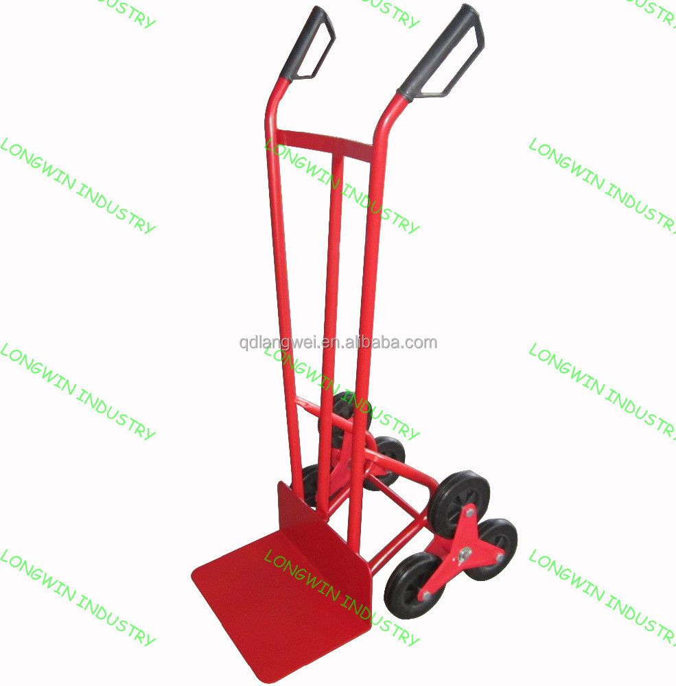 High quality six wheel hand trolley for climbing stairs