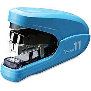 MAX USA CORP HD11FLKBE Flat Clinch Light Effort Stapler, 35-Sheet Capacity, Blue