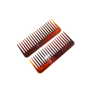 Plastic Wide Tooth Hair Comb Small Detangle Afro Comb