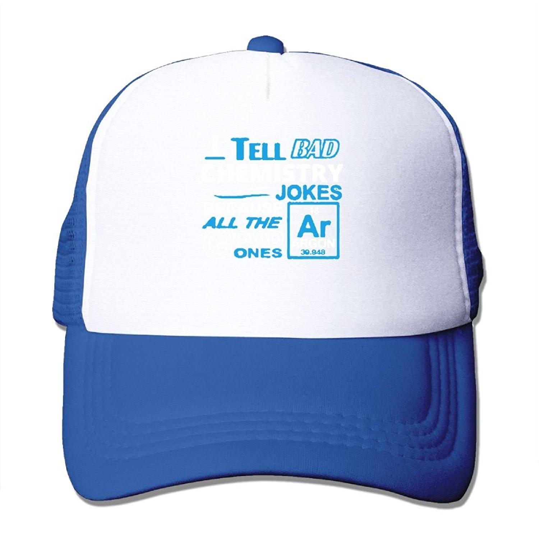 d5db1ffbeee Get Quotations · AKQQ0XXA Custom Cool Unisex-Adult I Tell Bad Chemistry  Jokes - Argon Funny Fishing Caps
