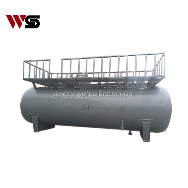 ASME Standard Industrial gas / liquid Three phase filter separator with platform and skid mounted