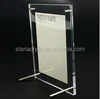 Long Desktop Clear Acrylic Photo Frames 8x10 Magnetic Picture Frames