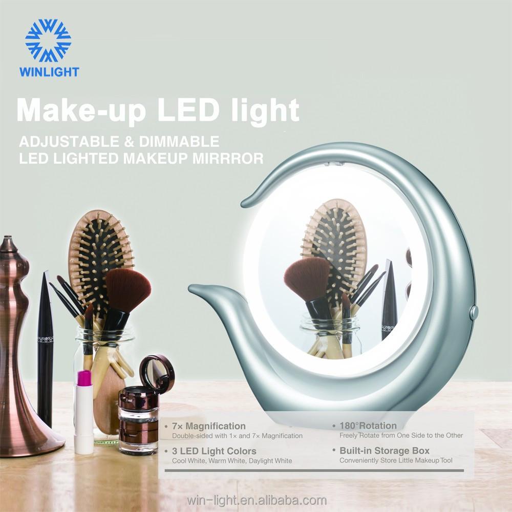 중국 공급 업체 침대 테이블 다채로운 led 화장품 거울-화장 거울 ...
