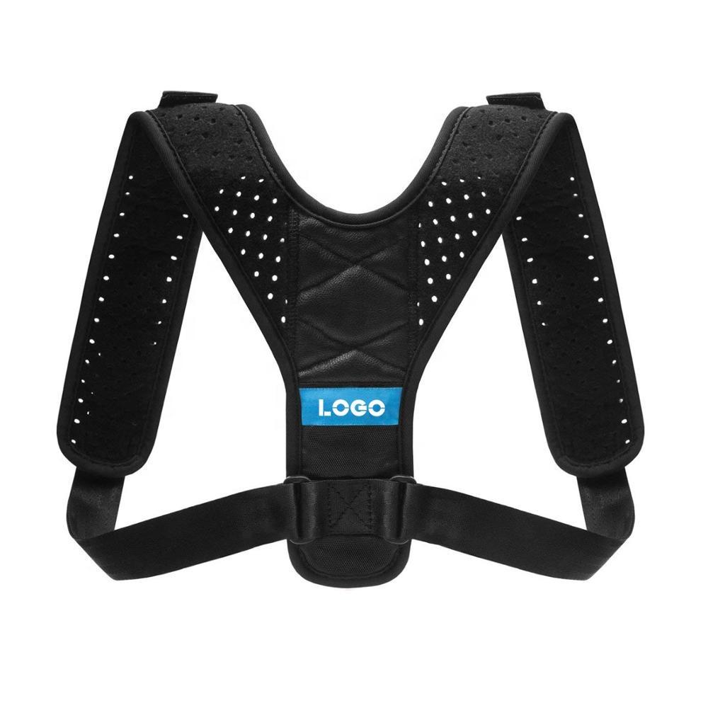 Adjustable Shoulder Support Brace Back Posture for Women & Men Posture Brace Corrector, Black/blue/pink/green;custom colors
