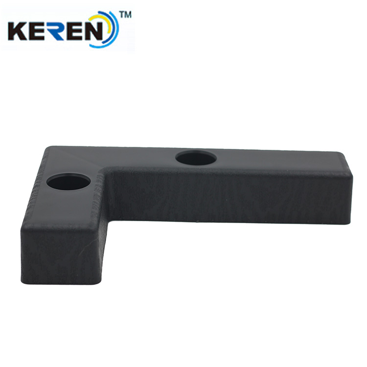 200*45*35mm Plastic L Shaped Corner Cabinet Feet Plastic Feet For Furniture