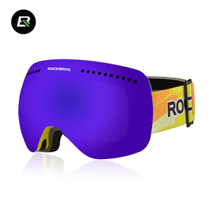 Rockbros Frameless Snowboard Goggles Real Lens Skiing Polarized Glasses Custom Ski Goggle