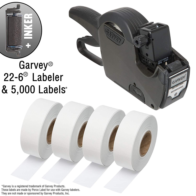 Garvey 22-6 One Line Price Marking Gun Kit: Includes Price Gun, 5,000 White Pricing Labels and Inker