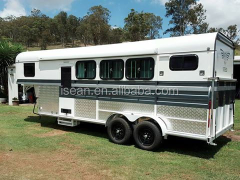 Austrailer standard! 4 gooseneck horse trailer with living area
