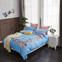 Printed king size fitted bedspread bridal bed sheet