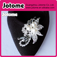 Bridal flower Crystal Wedding Rhinestone Shoe Clip Embellishment for Bridal Shoes