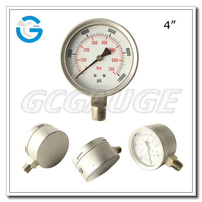 High quality bottom stainless steel wika type 232.30 pressure gauge