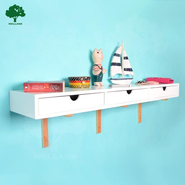 Étagère murale en bois avec tiroirAutres meubles en boisID de