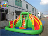 SpongeBob inflatable water slide for children, kids inflatable water slide with pool