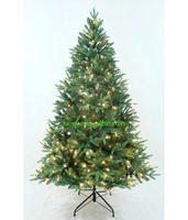 PE PVC mixed artificial dazzler Christmas Tree lighted plastic Xmas Trees