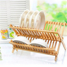 Bamboo folding environment bowl stand