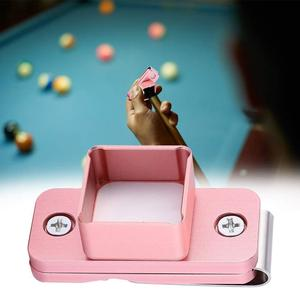 Professional Mini Billiard Magnetic Cue Tip Chalk Holder no Cover, Pink color