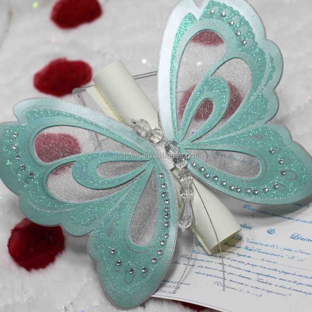 Butterfly Shape Wedding Invitation Card Butterfly Shape Wedding – Butterfly Wedding Invitation Cards
