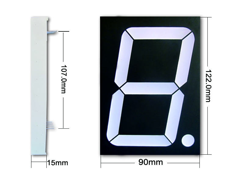 Kem-40011-bsr Cheap 4 inch large 7 segment led display supplier