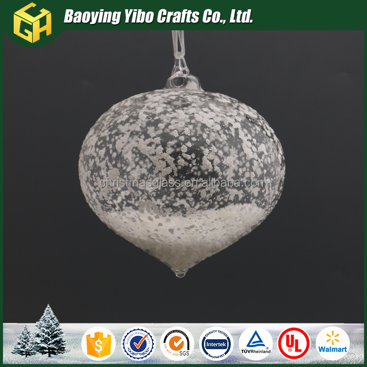 Transparent glass christmas ball as handmade craft