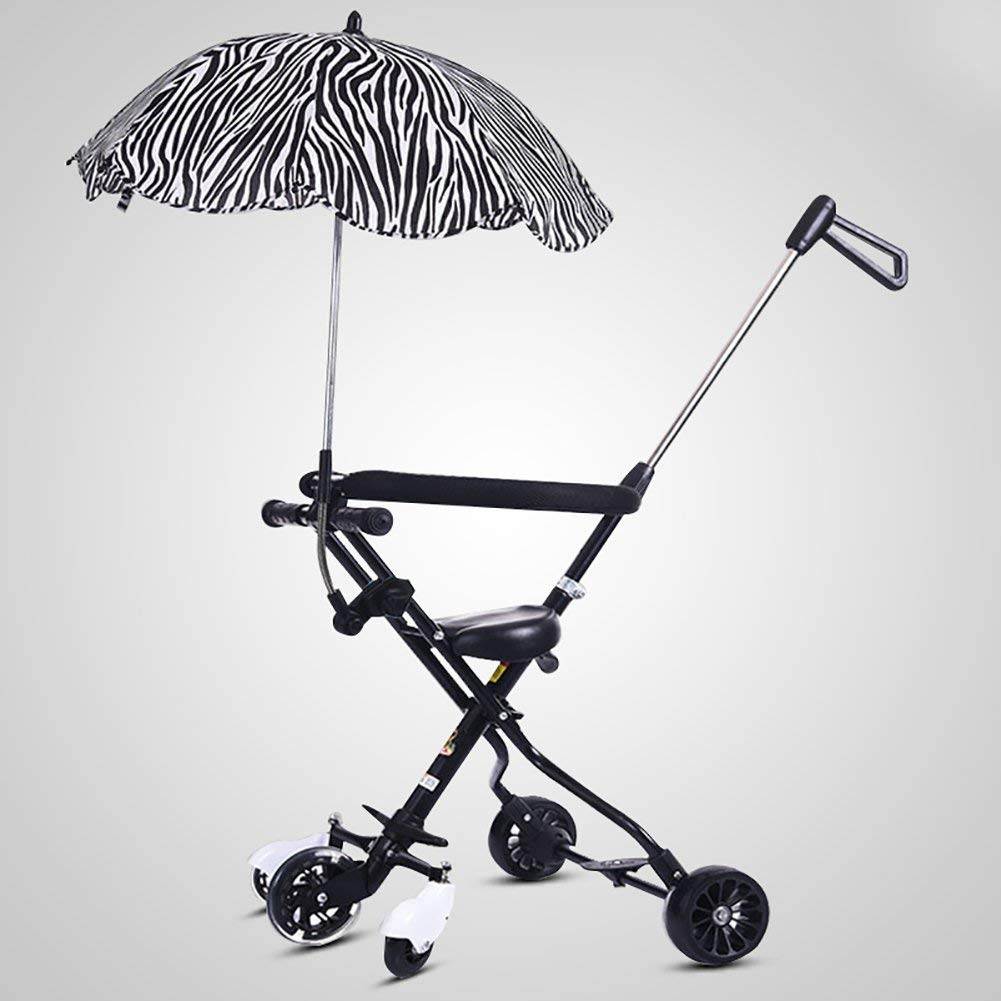 Tricycle Baby Trolley Trike Folding Slippery Baby Artifact With Umbrella Car 5 Wheel Anti-rollover Children Outdoor Toddler Toy Car Stroller,5050.595cm