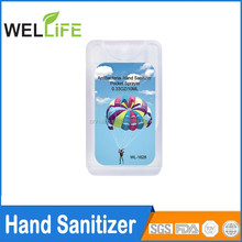 wholesale price Credit Card Hand Sanitizer container,colorful empty hand sanitizer bottle 20ml
