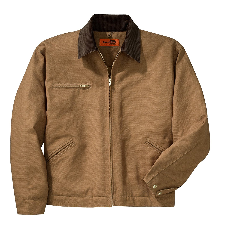 Cornerstone Duck Cloth Work Jacket, XS, Duck Brown