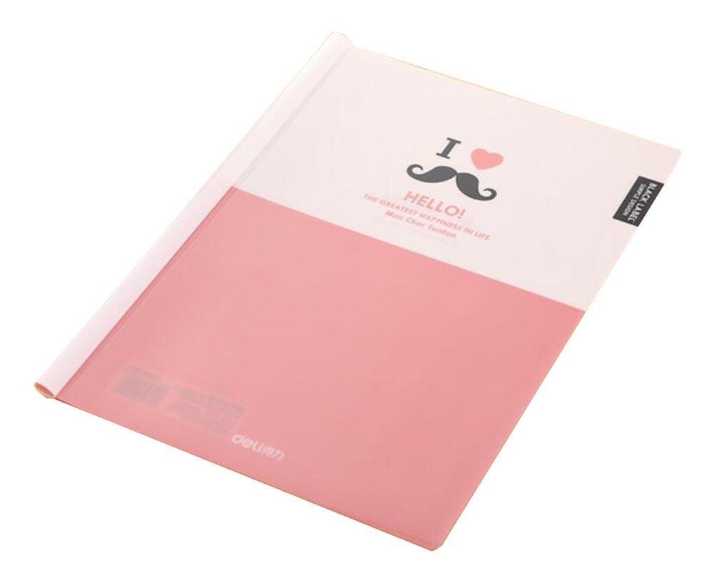 Plastic Sliding Bar Office A4 Size File Folder Organizer 5 Pcs