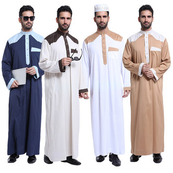 Dubai 2017 long sleeve muslim wear mens Kaftan Jilbab ethnic clothing arbric men jubba thobe
