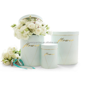 New cylinder box packaging elegant round flower boxes for rose packaging