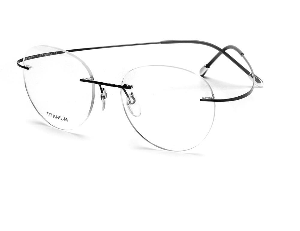 Pure titanium spectacle frames eyeglass frames, rimless eyeglasses, titanium frame eyeglasses фото