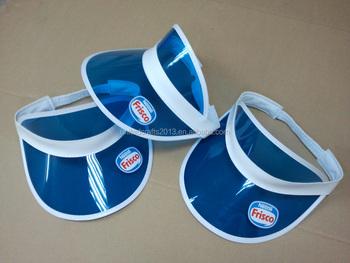 c2a8ea15e93a6 2016 Customized logo fashion Sun visor cap Pvc visor cap elastic band visor