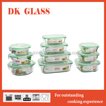 Oven Safe Pyrex Glass Food Preservation Container/Vacuum Multipurpose  Camping Food Storage Box With Airtight