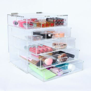 Awesome New Products Hair Accessories Storage Cosmetic Organization Clear Acrylic  Box Makeup Case Drawers Display Glass Cabinets