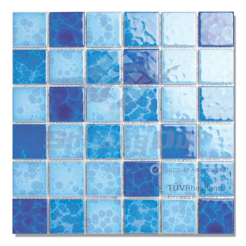 verglasten blau keramik schwimmbad fliesen 48x48mm 2014. Black Bedroom Furniture Sets. Home Design Ideas