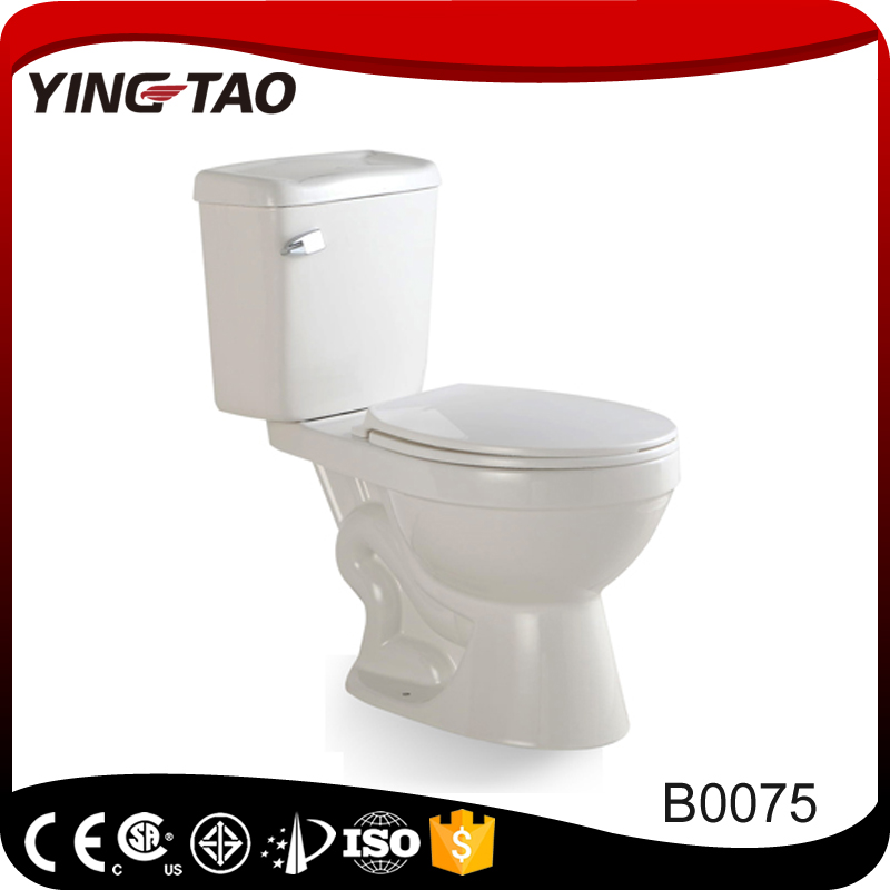 2017 New S Trap toilet sanitary ware Siphonic two piece water closet