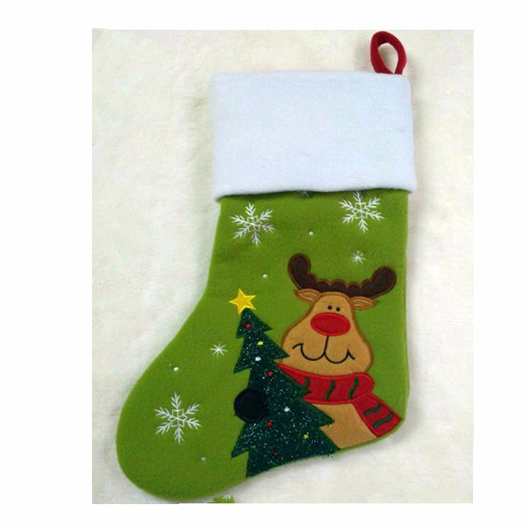 Independent design kids christmas santa socks for decoration