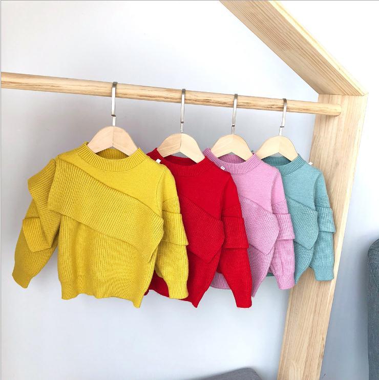 S11859B Baby Girl Sweater Knitwear Baby Cute Hooded Shirt Children Sweater Autumn Winter New Hooded Sweater фото