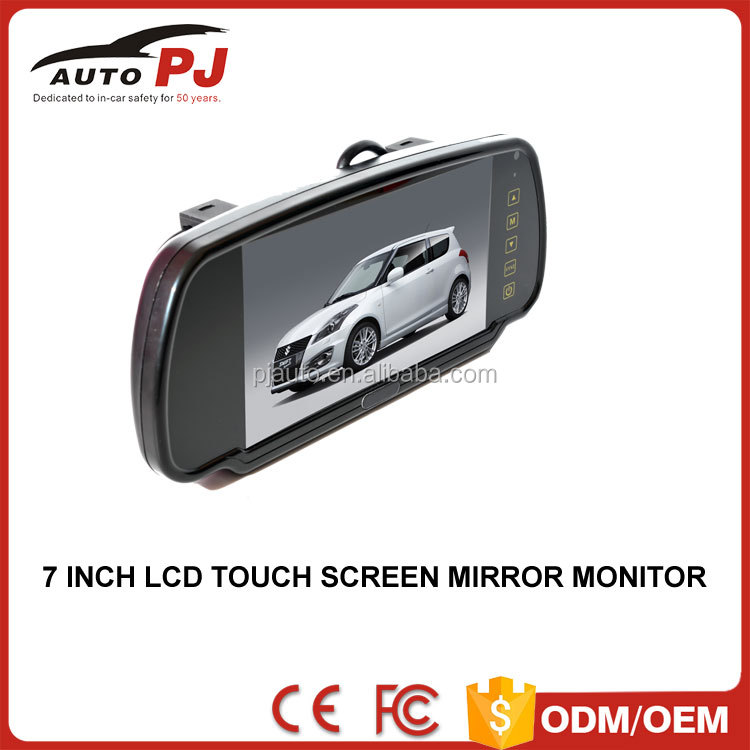 "OE Standard 7"" Car Rearview Mirror Monitor w/ CLIP-ON mounting (TM-700A)"