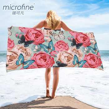 Micro Fibre Sports Swimming Printed Beach Towel With Logo