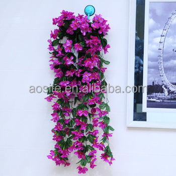 Factory outlet wholesale wall hanging artificial flower vine factory outlet wholesale wall hanging artificial flower vine decoration flowers for home wedding junglespirit Images