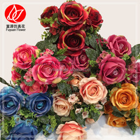 140830 Decorative Flowers & Wreaths Super quality Best-Selling fabric rose flower ball